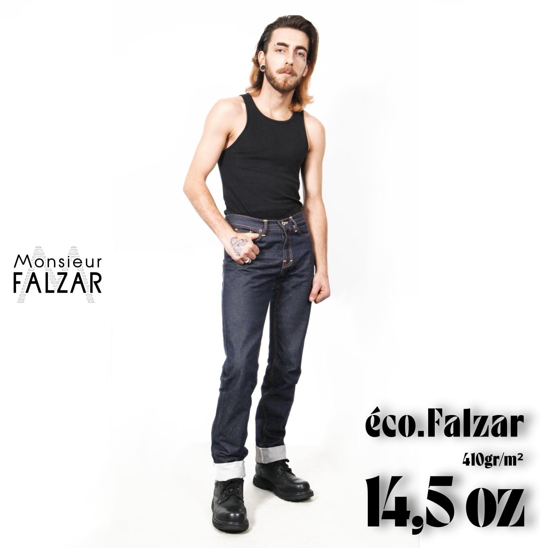 Le jeans Eco-falzar 14,5 oz
